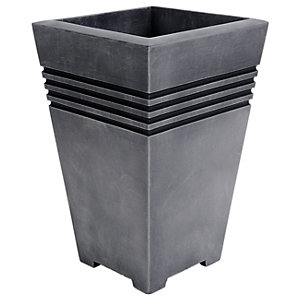 Tall Square Milano Pewter Planter