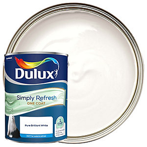 Dulux One Coat - Pure Brilliant White - Simply Refresh Matt Emulsion Paint 5L