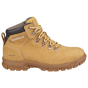 Caterpillar Mae S3 Nubuck Waterproof Ladies Safety Boots - Honey