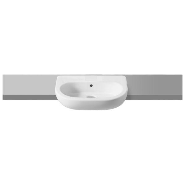 Meridian 1 Tap Hole Semi Recessed Bathroom Basin - 550mm