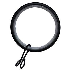 Wickes 28mm Metal Rings Matt Black 10 Pack