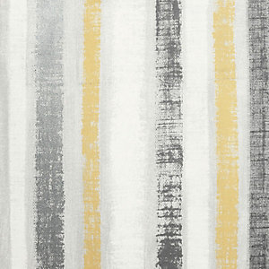 Artistick Ochre & Grey Painted Stripe Self Adhesive Wallpaper - 6m x 53cm