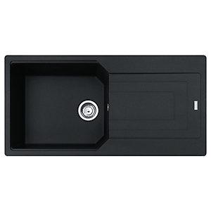 Franke Urban Granite 1 Bowl Kitchen Sink - Black