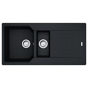 Franke Urban Granite 1.5 Bowl Kitchen Sink - Black