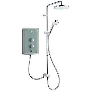 Mira Azora Dual 9.8 kW Electric Shower - Frosted Glass