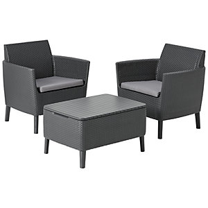 Keter Salemo Balcony 2 Seater Garden Set with Cushions