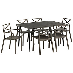 Keter 6 Seater Metal FX Garden Dining Set