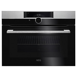 AEG KMK968000M Connected Combination Oven with Microwave - Stainless Steel