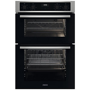 Zanussi ZKCNA4X1 Built-In AirFry Double Oven - Stainless Steel