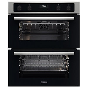 Zanussi ZPCNA4X1 Built-Under Double Oven - Stainless Steel