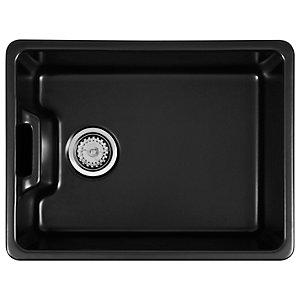 Wickes Belfast 1 Bowl Ceramic Kitchen Sink - Black