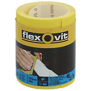 Flexovit 80 Grit Medium Sanding Roll - 5m x 115mm
