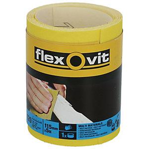 Flexovit 120 Grit Fine Sanding Roll - 5m x 115mm