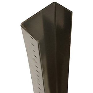 Image of DuraPost Steel Fence Post U Channel Sepia Brown - 56mm x 30mm x 1.8m