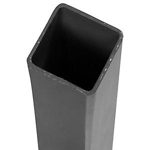 Image of DuraPost Steel Corner/Gate Fence Post Anthracite Grey - 75mm x 75mm x 1.8m