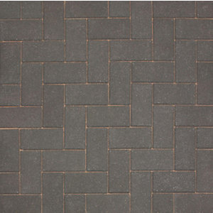 Marshalls Driveline 50 Smooth Driveway Block Paving Charcoal - Sample