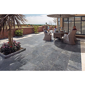 Marshalls Lazaro Marble Smooth Ocean Paving Patio Pack - Sample
