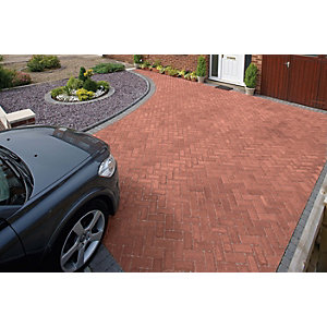 Marshalls Driveline Priora Driveway Block Paving Red - Sample