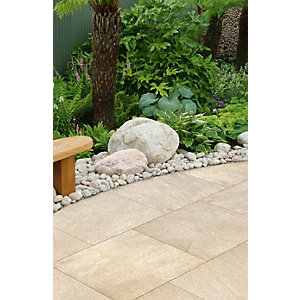 Marshalls Symphony Smooth Buff Porcelain Paving Patio Pack - Sample