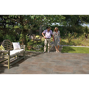 Marshalls Symphony Project Smooth Copper Porcelain Paving Patio Pack - Sample