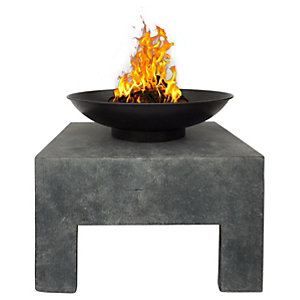 Charles Bentley Metal Outdoor Fire Pit with Square Stand