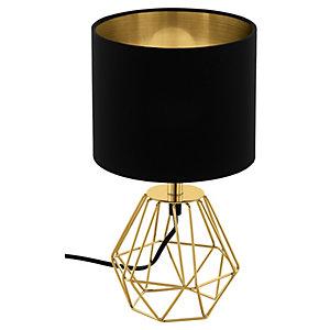 Eglo Carlton 2 Table Lamp - Black & Gold