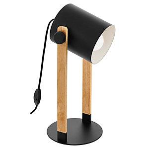 Eglo Hornwood Table Lamp - Black & Wood