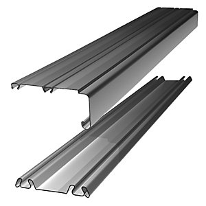 Spacepro Sliding Door Trackset - Silver 1.2-1.8m