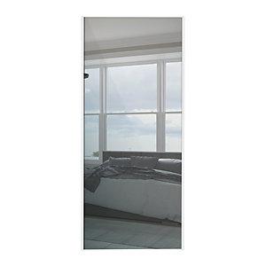 Spacepro Sliding Wardrobe Door White Framed Mirror - 2220 x 610mm