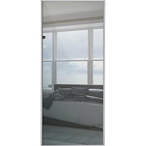 Spacepro Sliding Wardrobe Door Silver Framed Mirror Single Panel - 2220 x 914mm