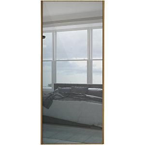 Spacepro Sliding Wardrobe Door Oak Frame Mirror - 2220 x 762mm