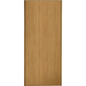 Spacepro Sliding Wardrobe Door Oak Frame & Panel - 2220 x 610mm