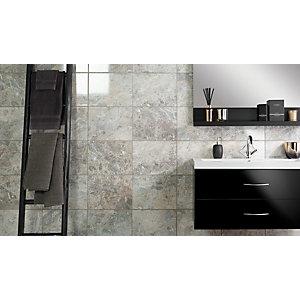 Wickes Avellino Cappuccino Grey Ceramic Wall & Floor Tile - 360 x 275mm