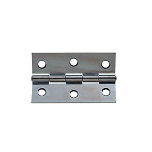 Wickes Butt Hinge - Zinc Plated 76mm Pack of 20