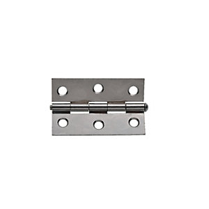 Wickes Loose Pin Butt Hinge - Chrome 76mm Pack of 2