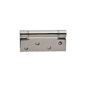 Wickes Adjustable Sprung Self Closing Hinge - Polished Stainless Steel 102mm Pack of 2