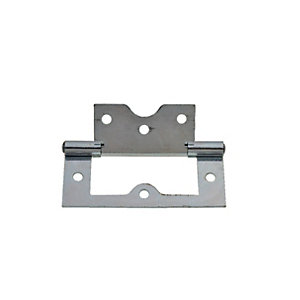 Wickes Flush Hinge - Zinc 75mm Pack of 2