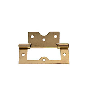 Wickes Flush Hinge - Brass 75mm Pack of 2