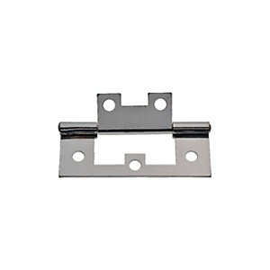 Wickes Flush Hinge - Chrome 63mm Pack of 2