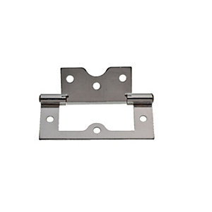 Wickes Flush Hinge - Chrome 75mm Pack of 2