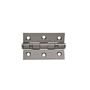 Wickes Grade 7 Fire Rated Ball Bearing Hinge - Satin Stainless Steel 75 x 51 x 2mm Pack of 10