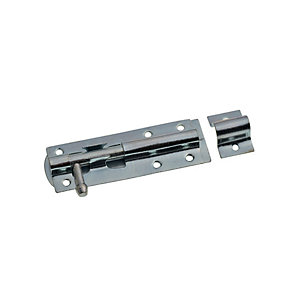 Image of Wickes Tower Bolt Zinc Plated 100mm