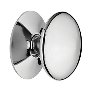 Wickes Victorian Cabinet Door Knob - Chrome 38mm Pack of 4