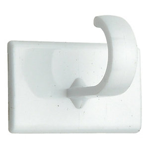Wickes Small Self Adhesive Cup Hook - White Pack of 4