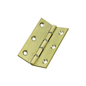 Wickes Butt Hinge - Polished Brass 76mm Pack of 2