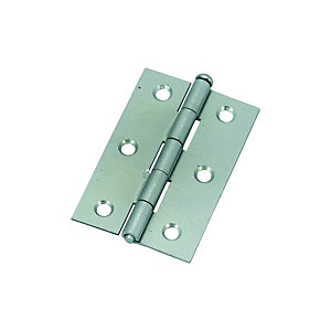 Wickes Loose Pin Butt Hinge - Zinc 76mm Pack of 2
