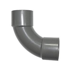 FloPlast WS14G Solvent Weld Waste 92.5 Deg Bend - Grey 32mm