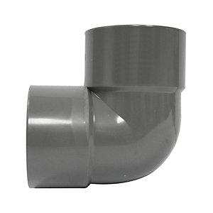 FloPlast WS10G Solvent Weld Waste 90 Deg Bend - Grey 32mm