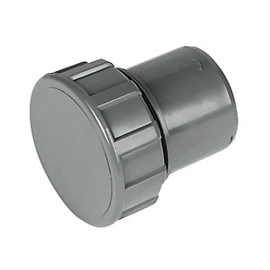 FloPlast  WS30G Solvent Weld Waste Access Cap - Grey 32mm