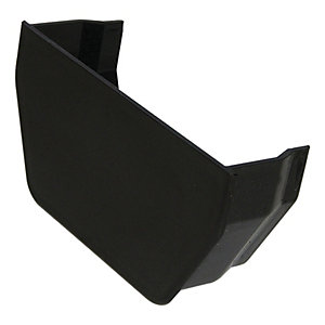 FloPlast 114mm Square Line Gutter Internal Stop End - Black